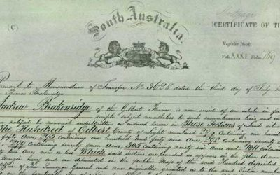 History of Torrens Titles in SA
